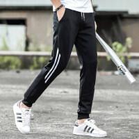 新款初中学生哈伦裤收口卫裤 男士长裤子潮流青少年运动裤 韩版系带休闲裤