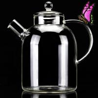 家用大号玻璃茶壶大容量玻璃壶耐高温加厚烧水壶煮茶器过滤泡茶壶