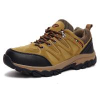 春秋季男士登山鞋男防水户外鞋透气防滑耐磨徒步鞋男女鞋