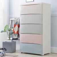 宝宝衣柜儿童抽屉式收纳柜子塑料储物柜婴儿置物多层整理箱五斗柜