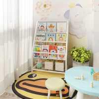 儿童书架绘本架图书玩具收纳整理一体式储物柜家用多层落地置物架