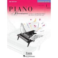 【现货】英文原版 菲伯尔钢琴乐谱 1级课程 Piano Adventures: Level 1: Lesson Book