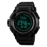 多功能指南针电子表男户外登山跑步计时防水运动手表