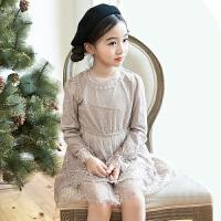 女童春装连衣裙长袖新款春季中大童儿童装公主裙小女孩裙子潮