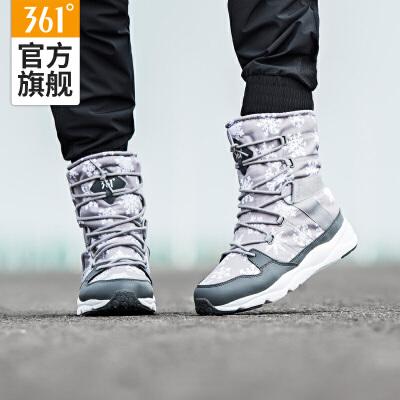 361女鞋棉鞋加绒运动鞋361度冬季女雪地靴保暖休闲鞋