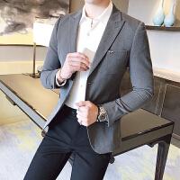 秋冬季韩版小西装男修身青年帅气商务绅士男士休闲小西服上衣外套