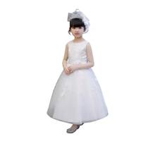 儿童礼服公主裙夏装女童蓬蓬纱裙子主持人晚礼服长裙钢琴演出服夏