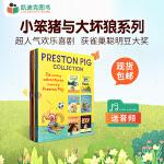 英国进口儿童英文原版学习绘本小笨猪与大坏狼系列 Preston Pig Collection 6册盒子平装3-10岁