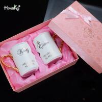 情侣杯子一对创意潮流韩版马克杯个性水杯陶瓷杯结婚*物生日