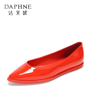 【9.20达芙妮超品2件2折】Daphne/达芙妮秋款时尚时尚浅口 光面低跟通勤职业单鞋女--