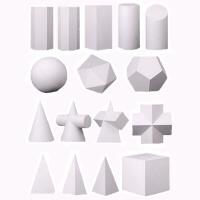 石膏几何体模型 美术素描几何体模型16个一套大号形体静物摆件雕塑教具画材