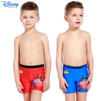 迪士尼儿童泳衣裤男童宝宝平角裤卡通绑绳式汽车沙滩裤SPQ10008