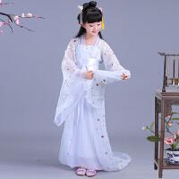女童中国风汉服古筝演出儿童古代仙女服装小孩女孩公主古装表演夏