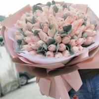 ????礼缘 七夕鲜花速递同城上海花店抱抱桶礼盒玫瑰花女友生日闺蜜韩式花束
