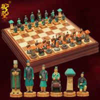 20180414052952206国际象棋套装树脂大号人物造型象棋子木质棋盘西洋棋益智游戏 立体棋子+棋盘