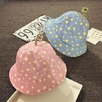 儿童渔夫帽女宝宝夏季盆帽男遮阳帽宝宝帽子1-2岁婴儿帽6-12个月