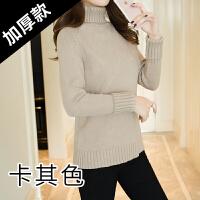 2017新款毛衣女冬季套头加厚宽松韩版学生高领百搭长袖针织打底衫 80-140斤均码