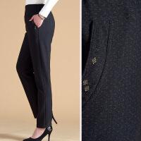 妈妈裤子春装休闲长裤宽松中老年人女裤外穿松紧腰老年奶奶加绒裤