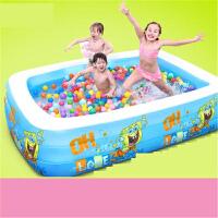 婴幼儿童充气游泳池家用宝宝超大号戏水海洋球玩具池浴缸k0p