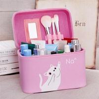 202001111515009362019新萌猫大容量化妆包可爱化妆品收纳盒小号便携韩国简约化妆箱