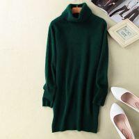 高领镂空羊绒衫女套头短款毛衣长袖打底衫秋冬季宽松毛针织衫