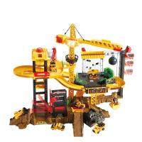 【支持礼品卡】 极速快线工程套装含5辆小车男孩儿童塔吊轨道 38768 v3k