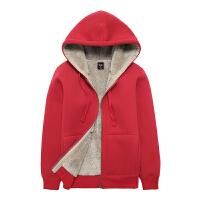 加绒卫衣女秋冬季纯棉加厚宽松运动休闲连帽拉链开衫羊羔绒外套