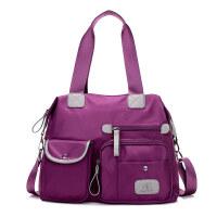 s韩版帆布包女士包单肩包尼龙牛津布女包手提包斜挎包简约大包包潮 紫色1180牛津布包
