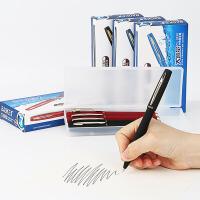 宝克中性笔1.0mm签字笔0.7碳素0.5红黑蓝色粗水笔商务硬笔书法练字大容量笔芯