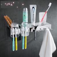 牙刷杯架 漱口杯玻璃太空铝浴室牙刷挂件 卫生间漱口杯置物架q3a