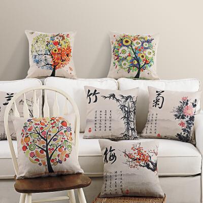 中国风汽车棉麻沙发靠垫坐垫办公室靠枕床头椅子靠背护腰抱枕套 发货周期:一般在付款后2-90天左右发货,具体发货时间请以与客服协商的时间为准