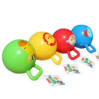 费雪儿童4寸手柄球摇铃球6-12个月婴儿智力玩具宝宝手抓球皮球