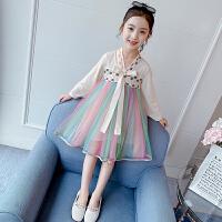 女童汉服连衣裙中国风裙子女孩蓬蓬纱儿童公主裙春装