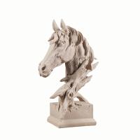 北欧创意家居软装摆件复古动物马头书房电视柜样板房雕像装饰摆件