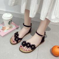 户外时尚凉鞋气质性感平底鞋休闲软底舒适女鞋ins潮
