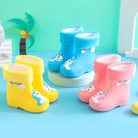 �和�雨靴水鞋����雨衣防滑男童�胗�号�童雨鞋