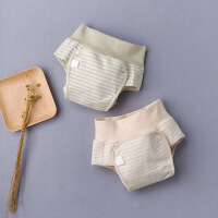 彩棉城堡 童装新款儿童尿布裤男女童婴儿肚兜短裤纯棉高要护肚裤