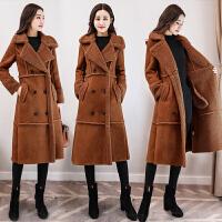 棉衣女中长款韩版2017冬装新款宽松加厚鹿皮绒大衣仿羊羔毛外套女