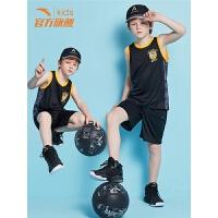 安踏童装 男童篮球服套装夏装2019夏季新款儿童背心运动套装速干