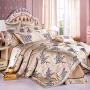 伊迪梦家纺 欧美式豪华样板房床上用品多件套 贡缎提花绗缝夹棉绣花 大规格床婚庆十件套TY105