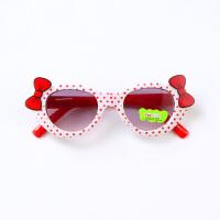 儿童墨镜女蝴蝶结装饰小孩太阳镜男潮宝宝太阳眼镜遮阳镜