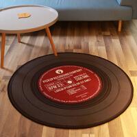 黑胶唱片书桌电脑椅地垫吊篮圆形地垫地毯客厅茶几垫儿童防滑脚垫