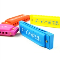 C调布鲁斯10孔儿童口琴玩具 初学入门男女孩吹奏乐器口风哨小喇叭