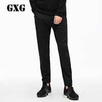 GXG&yatlas联名款 2017冬装 男士黑色运动休闲长裤174802904