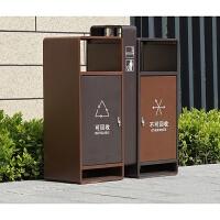 定制201不锈钢垃圾桶 户外 室外不锈钢分类果皮箱 电镀垃圾箱绿恩