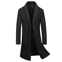 毛呢大衣男中长款新款羊毛妮子外套修身秋冬季商务休闲大衣潮