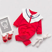 女婴儿连体衣服0岁3个月2宝宝3新生儿秋冬季冬装潮款女童内衣睡衣