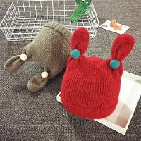 儿童毛线帽冬天宝宝帽子女童针织帽男婴儿帽子6-12-24个月护耳帽