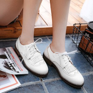 O'SHELL法国欧希尔新品098-3712欧美超纤皮低跟女士单鞋