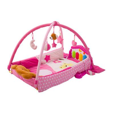 健身架婴儿玩具音乐游戏毯钢琴架宝宝智玩具0-1岁3-6-12个月礼